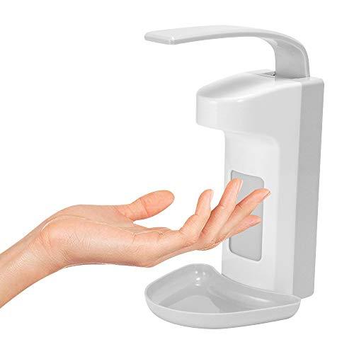 ALLOMN Wandspender 1000 ml/500 ml Seifenspender Desinfektionsspender Kunststoffpumpe Seifendesinfektionsspender Ellenbogen drücken Handdrücken zum Zuhause Büro Schule Krankenhaus (500ML)