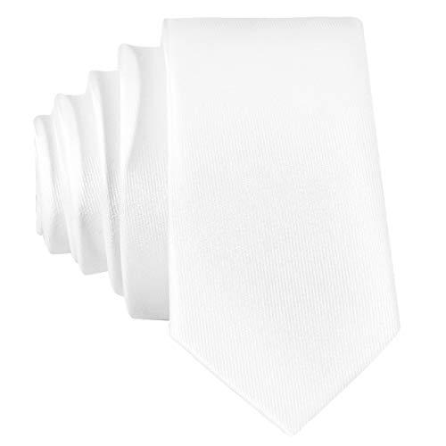 Corbata angosta de color blanco - hecho a mano // en diferentes colores