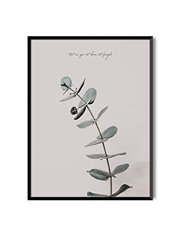MILUKA Láminas para enmarcar o de Estilo Nórdico | Poster de Hojas Verdes | Varios Tamaños Tout (30 x 40 cm)