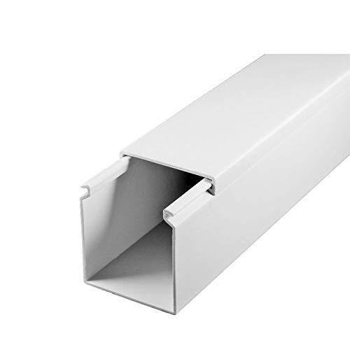SCOS Smartcosat SCOSKK166 1 m Kabelkanal (L x B x H 1000 x 40 x 40 mm, PVC, Kabelleiste, Selbstklebend) weiß