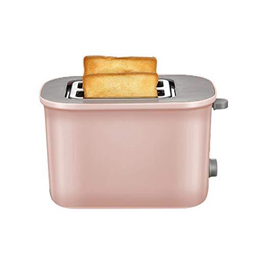 ZHHAOXINTS Tragbar 2 Scheiben Toaster, Edelstah Breit Schlitz, 7 Bräunungsstufen, Brotzentrierung, Krümelschublade, Auftau, Aufwärm Stopp Funktion Geeignet für die Küche, Pink