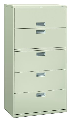Big Sale Best Cheap Deals HON 685LQ 600 Series 36-Inch by 19-1/4-Inch 5-Drawer Lateral File, Light Gray