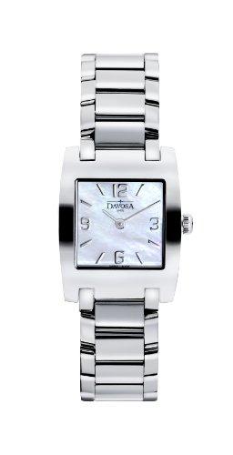 Davosa Damen-Armbanduhr Dreamline Tonneau Analog Quarz Edelstahl 16855884