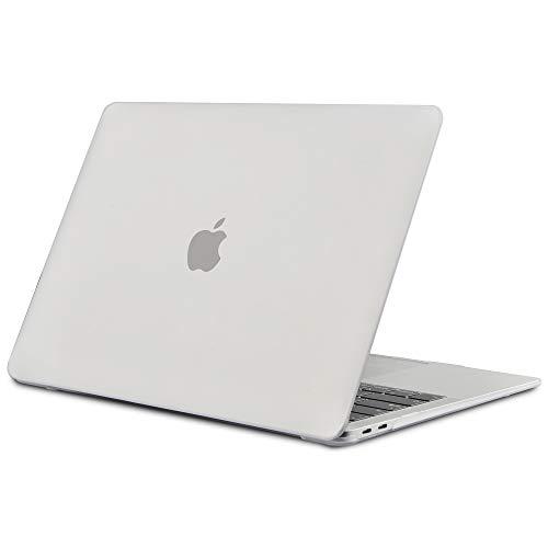 TECOOL Hülle für MacBook Air 13 Zoll Retina 2018 2019 2020, Plastik Hartschale Matt Schutzhülle Case für Neuen Apple MacBook Air 13,3 Zoll mit Touch ID (Modell:A1932 / A2179) - Klar