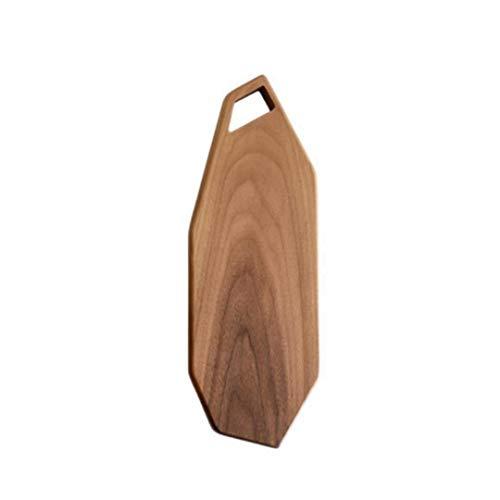 Xuyichangzhishi Tabla de Cortar de Cocina de Madera Entera de Nogal Negro Tabla de Cortar de Frutas de Madera Maciza Bandeja de Corte de Carne de pan-39x13,5 CM