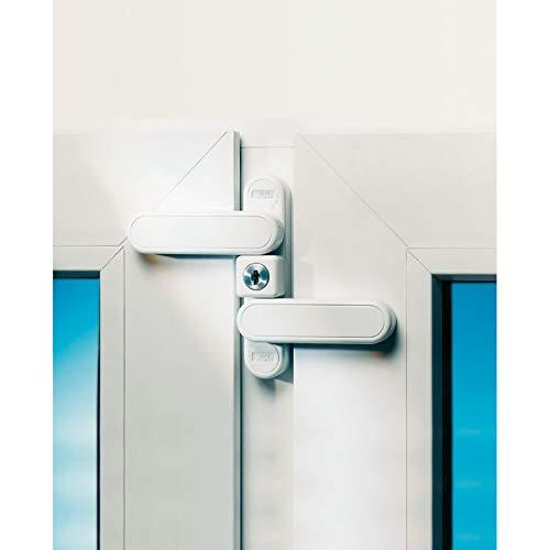 BURG-WÄCHTER Fenstersicherung mit 2 Schwenkriegeln, Einbruchschutz, Einflügelige und zweiflügelige Fenster und Türen aus Holz, Kunststoff, Aluminium, 2 Schlüssel inkl., WD 3 W Z1