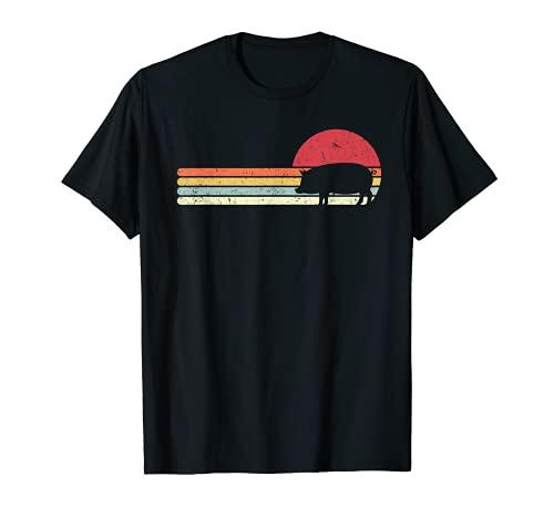 Schwein Shirt. Jahrgang Schweinchen, Pig T-Shirt. Vintage