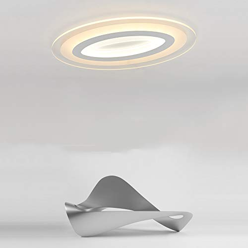 HviLit Montage ultra mince de plafonnier 46W / 56W / 73W LED blanc blanc chaud acrylique de plafond en métal de fer acrylique de panneau de plafond économiseur d'énergie de montage d'intérieur de pann