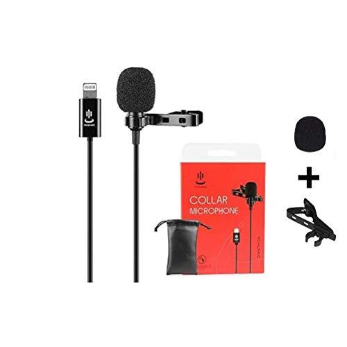 Pro Grade Lavalier Reversmicrofoon, Clip On revers Mic omnidirectionele condensator microfoon voor iPhone iPad Podcast Vlog Interview YouTube