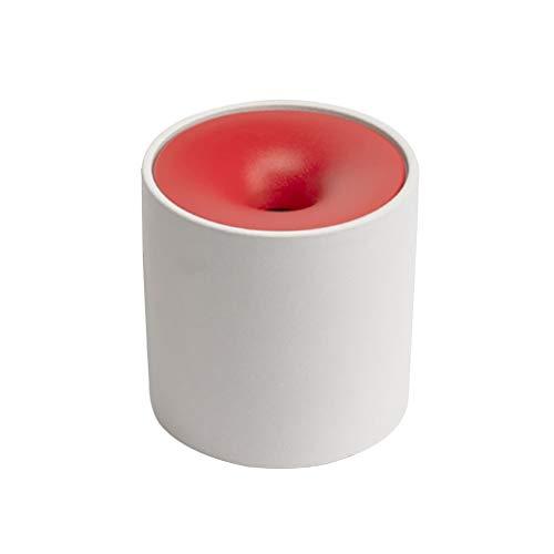 SKK Alta Capacidad A Prueba de Viento Redondo de cerámica Cenicero Cenicero Cenicero Cenicero for los Cigarrillos de Patio al Aire Libre Ministerio del Interior de Interior Fácil de Limpiar