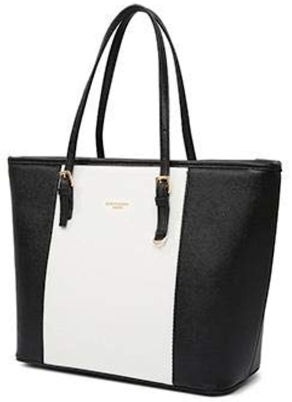 Fashion Big Bags pu Leather Womens Handbag Large Capacity Women Tote Bag Black Shoulder Bags Hand Bag color B Size 33 x 28 x 15 cm