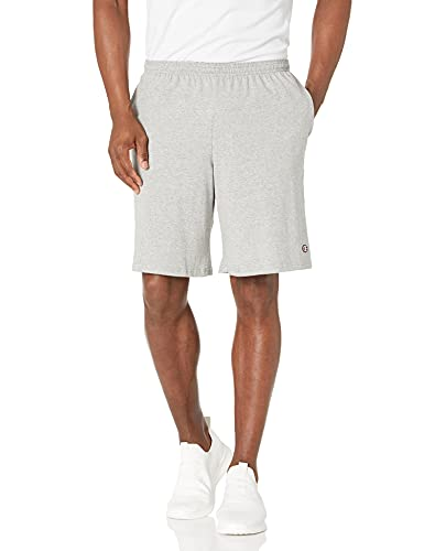 Champion Men's Jersey Short With Pockets, Oxford Grey, Large