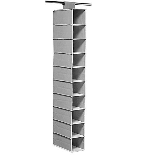 Wand-Kleiderschrank Aufbewahrungstasche, Vlies-Wand-Aufbewahrungstasche, Große Wand-Aufbewahrungstasche (Gray)