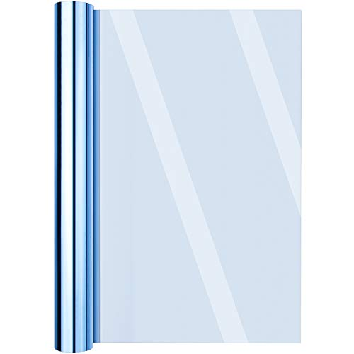 Ibesecc Película de vinilo reflectante para ventana anti UV aislante película autoadhesiva para privacidad de vidrio