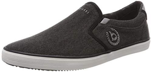 bugatti Herren 321502646900 Slip On Sneaker, Schwarz, 43 EU