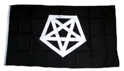 Flagge Fahne Pentagramm 90 x 150 cm FLAGGENMAE®