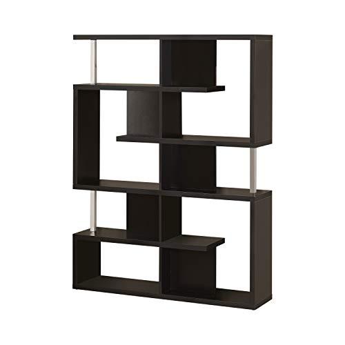 Tvilum Element 5 Shelf Narrow Bookcase, Black Wood Grain