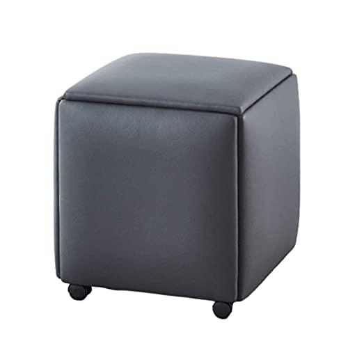 WECDS Multifunktionale Sitzgelegenheiten, 5 in 1 Sitzmöbel Cube Storage Fußhocker Fußstütze,Lederhocker,Kombikissen Hocker Möbel für Wohnung,Wohnzimmer,Starke Tragfähigkeit,