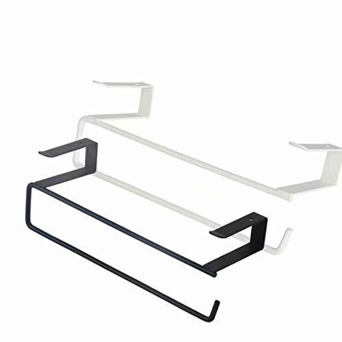 Doyime Papier Handtuch Rollenhalter Trivet Servietten Spender Schrank Schrank Unter Regal Lagerung Rack für Cling Film Küche Handtuch Wrap Aluminium Folie (weiß)
