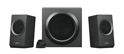 Logitech Z337 Kabelloses 2.1 Lautsprecher-System mit Subwoofer, Bluetooth, 80 Watt Spitzenleistung, 3,5 mm Eingang, Cinch-Eingang, Steuergerät, EU Stecker, PC/TV/Tablet/Handy/PS4/Xbox One - schwarz