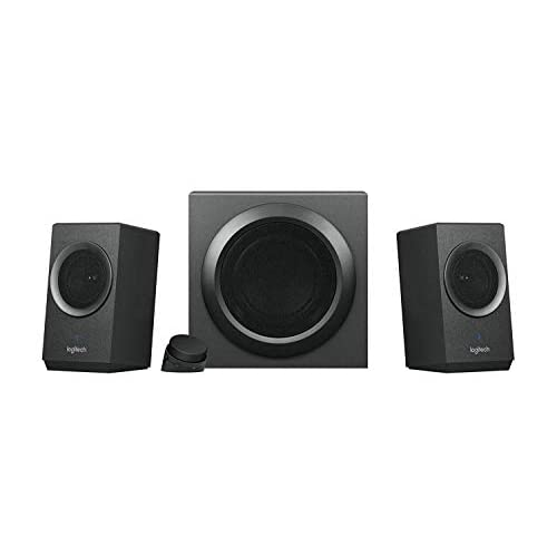 Logitech Z337 Sistema di Altoparlanti Wireless Bluetooth 2.1 con Subwoofer, 80 Watt, Suono e Bassi Potenti, Bluetooth, Ingressi 3.5mm e RCA, Presa EU/IT, PC/PS4/Xbox/TV/Smartphone/Tablet