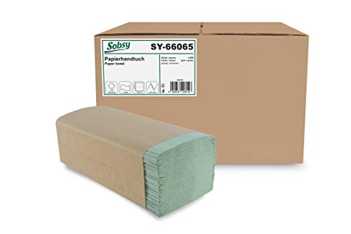Papierhandtuch ZZ/V-Falz 1-lg, Rec.Grün