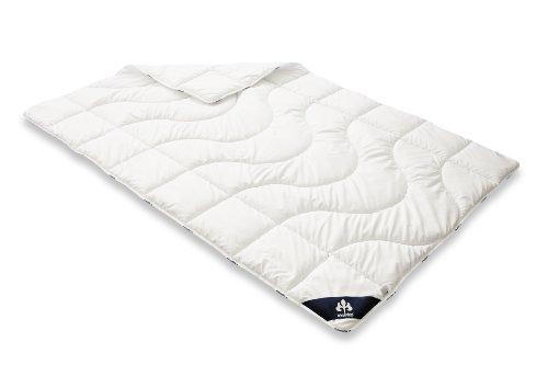 Badenia Bettcomfort Irisette Micro Thermo Steppbett, leichte Bettdecke für den Sommer, 155 x 200 cm, weiß