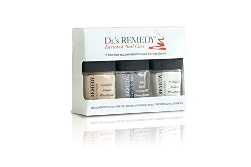 Dr.'s REMEDY French Manicure/Pedicure WELLNESS COLLECTION 3 Piece Boxed Set, CLASSIC Cloud/PERFECT PETAL Pink/TOTAL Two-In-One