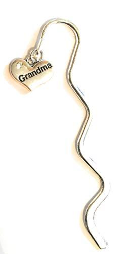 FizzyButton Gifts - Mini segnalibro con Ciondolo a Forma di Cuore per Nonna, in Sacchetto Regalo