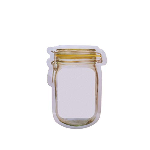 Yeptop Riutilizzabile Mason Jar Bottiglia Borse Zipper Seal...