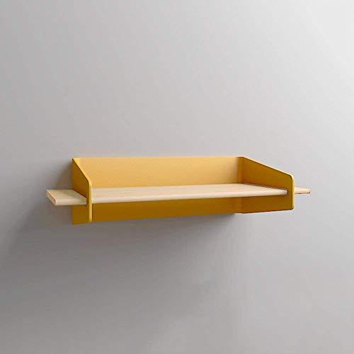 Rek van smeedijzer, voor de woonkamer, om op te hangen, wandplank, opbergplank (kleur: geel, afmetingen: 20 x 15 x 10 cm) 29.5x15x10cm Geel