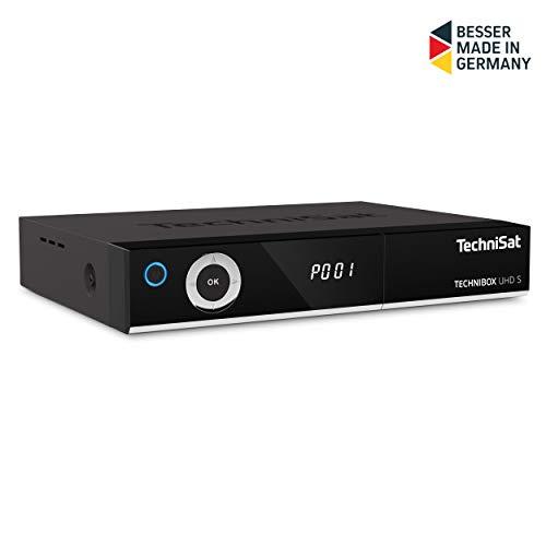TechniSat TECHNIBOX UHD S – 4K Sat Receiver mit Twin Tuner (DVB-S/DVB-S2, Alexa Sprachsteuerung, Smart TV, App Steuerung, PVR Aufnahmefunktion, WLAN, LAN, CI+, USB 3.0) schwarz
