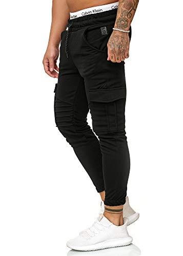 OneRedox Herren Jogging Hose Jogger Streetwear Sporthose Modell 1214 Schwarz S