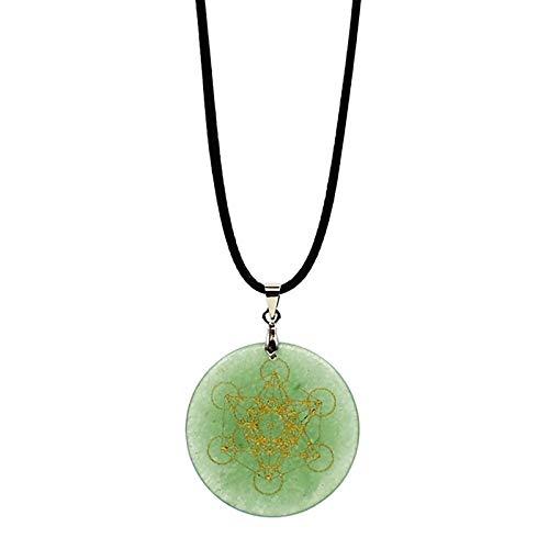 Yoga Necklace, Flower of Life Pendant Seven Chakras Meditation Crystal Stone Pendant Necklace Women Fashion Jewelry Gift