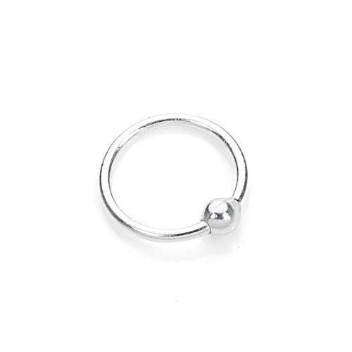 925 Sterling-Silber 8mm BCR (Ball Closure Ring) Hoop Nasenring