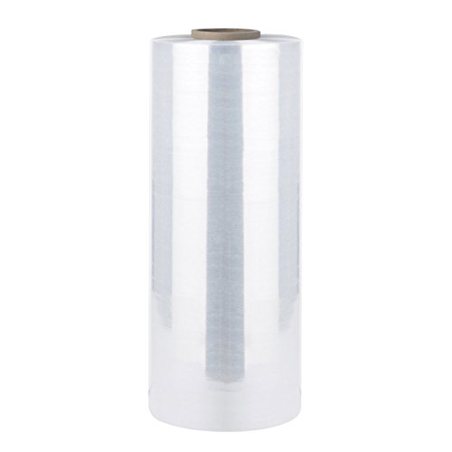 """Bonison 18"""" x 2000' x 80 Gauge Stretch Film Pallet Wrap, 20 Microns Thick Industrial Strength Shrink Wrap. Clear Plastic Machine Grade Stretch Film for Move, Pack, Store."""