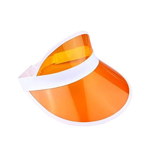 Unisex 80er Jahre Retro Neon Sonnenblende Hut Stirnband Cap Golf Tennis Hirsch Poker Party Gr. One size, Orange