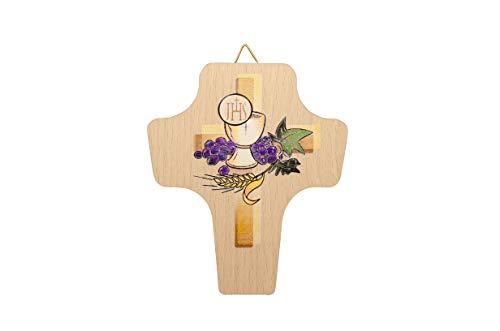 MaMeMi Wunderschönes Kreuz mit Buntem Druckmotiv Kelch