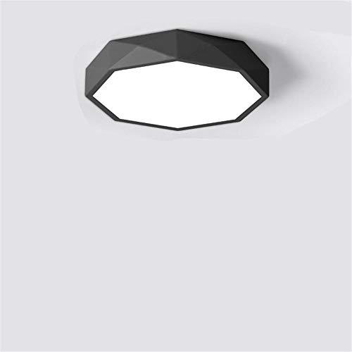 Lámpara de techo LED para 3000k, empotrada LED regulable, techo de araña de luz, luz blanca cálida,para cocina, dormitorio,armario, pasillo, habitación de los niños-Luz de tres colores_30 CENTIMETROS