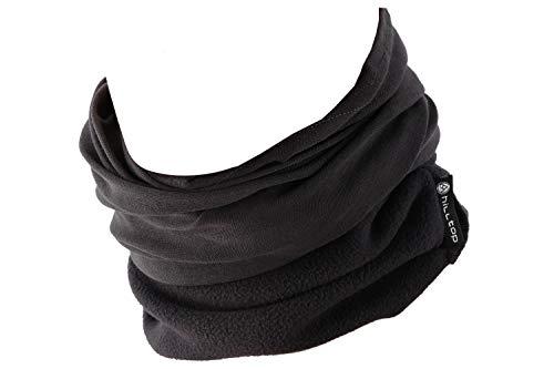 Hilltop Polar Halstuch, Multifunktionstuch, Kopftuch, Schlauchschal, Schal mit Fleece, Cooles Design in Trendfarben, für Damen und Herren, Farbe:Grau uni