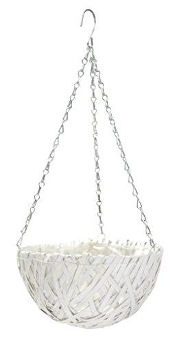 Decoline Blumenampel mit Einsatz weiß - rund 1 Stück - S