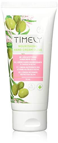 Timely - Crema de manos hidratante y regeneradora con aceite de oliva, 75 ml