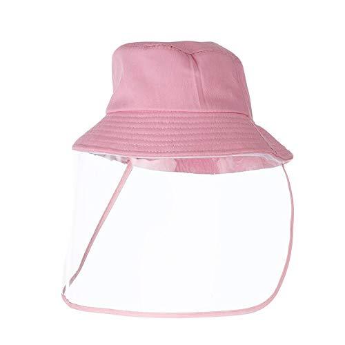 2-8 años Sombreros de Cubo para niños con Visera Facial extraíble Gotas Anti Polvo UV UV Gorras de Seguridad