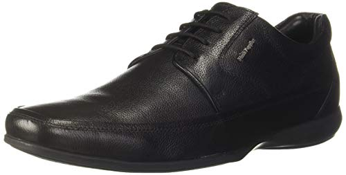 Hush Puppies Men Anderson New Derby Black Leather Formal Shoes-7 UK (8246731)