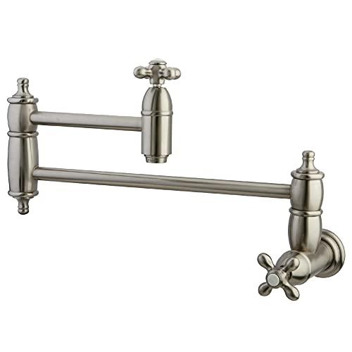 Kingston Brass KS3108AX Restoration Pot Filler, Brushed Nickel