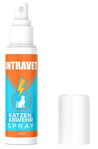 Saint Nutrition NEU: Intravet by Katzen ABWEHR Spray für Innen und Außen – Katzenfernhaltespray – Kater hau ab – STOPP bleib Weg