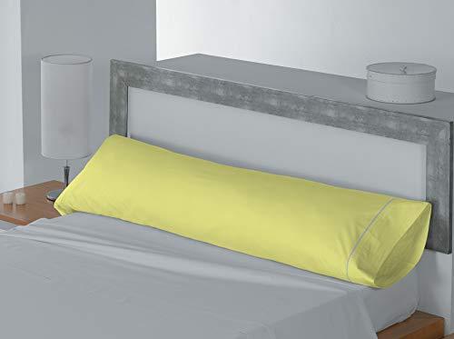 Lucena Cantos - Funda de Almohada Coordina, Colores Lisos (Amarillo, Almohada 90 cm, 110 x 45, Pack 2 uds)