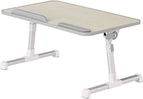 GROSSē Escritorio ajustable para portátil para cama, bandeja para portátil, mesa plegable, soporte para ordenador portátil, trabajo para escritura, juegos, dibujo (blanco)