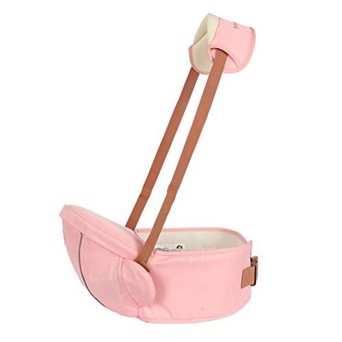 Premium Hipseat Baby Carrier Babytrage, Sicher und Komfortabel, Freie Größe, Vorderer Träger Gürtel, 4 tragende Positionen Pink Einheitsgröße