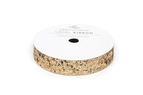 American Crafts Solid Large Glitter Ribbon .625\